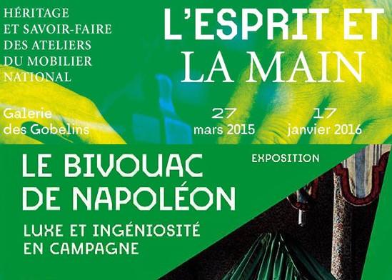 Expo – L'esprit et la Main et Le bivouac de Napoléon au Mobilier national