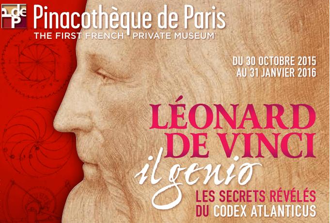 La Pinacothèque de Paris accueille Léonard de Vinci
