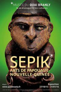 Affiche expo Sépik Musée du Quai Branly