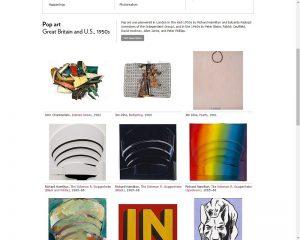 Capture d'écran site musée Guggenheim New York