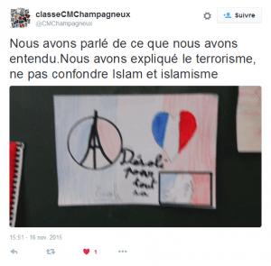 Les dessins de la classe de Romance Cornet, à propos des attentats du 13 novembre 2015.