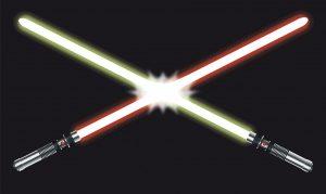 Light Saber Fight – Vector Illustration © rami_hakala