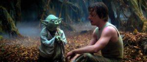 """""""Dark Vador apprend à Luke Skywalker qu'il est son père, et qu'il a une destinée. Son parcours pose la question du choix : sommes-nous libres ou pas ?"""" / Gilles Vervisch."""