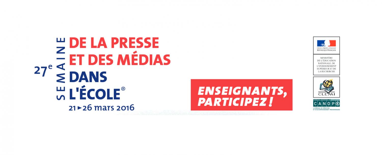 Ouverture des inscriptions pour la Semaine de la presse et des médias dans l'école®