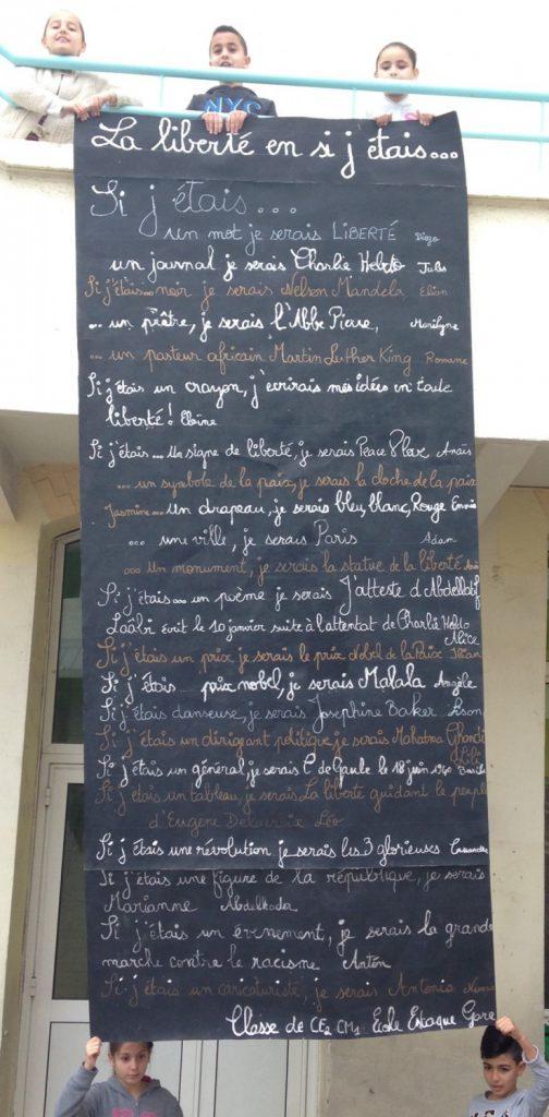 La liberté en si j'étais…Texte écrit par les CE2-CM1 de l'école Estaque Gare à Marseille.