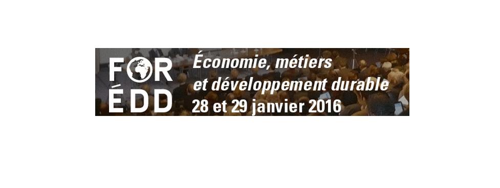 Huitième édition du FOREDD les 28 et 29 janvier 2016