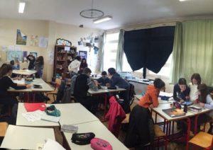 Les élèves d'A. Mariottat conçoivent eux-mêmes des capsules, lors de tâches complexes.