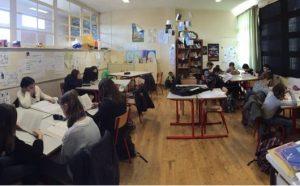 Les élèves d'A. Mariottat pendant une tâche complexe.