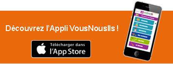 Decouvrez l'appli iOS de VousNousIls - savoir plus