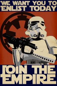 """Les """"3e Star Wars"""" ont conçu des affiches basées sur celles de la propagande nazie ou soviétique."""