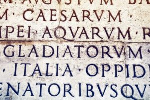 Latin inscription in Rome