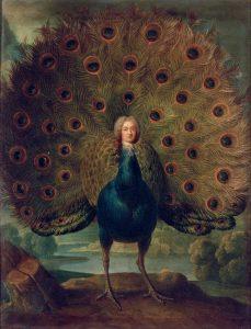 Duc de Biron, en paon par l'École française Louis-Antoine de Gontaut (XVIIIe siècle) © RMN Grand Palais - Hervé Lewandowski