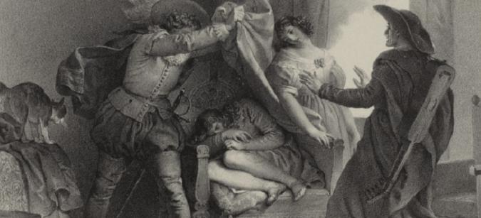 """""""Le mariage de Figaro"""" de Beaumarchais / Illustration / 1784 / BNF"""
