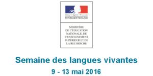 semaine langues vivantes