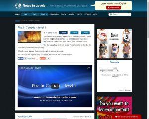 Capture écran site News in Levels