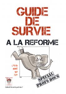 """""""Guide de survie à la réforme"""" du collège du collectif """"Où est le prof doc"""""""
