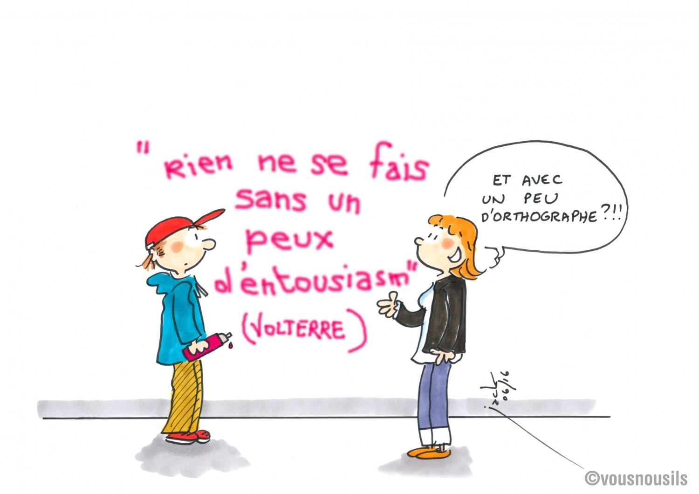 L'orthographe est à terre, mais ce n'est pas la faute à Voltaire !