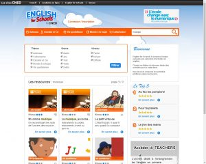 Capture écran English for Schools