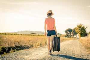 young girl is walking during her vacation - people and lifestyle concept © Kar Tr / Fotolia