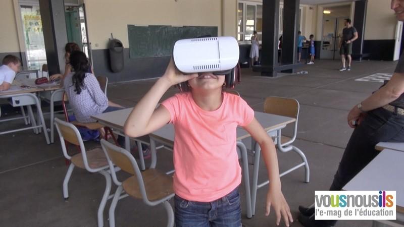Découverte des volcans à l'école, en réalité virtuelle