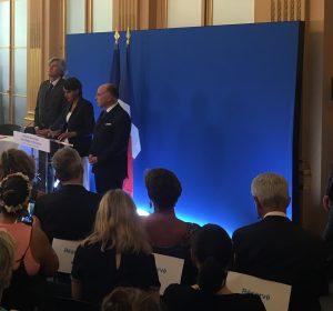 Najat Vallaud-Belkacem, Bernard Cazeneuve et Stéphane Le Foll, le 24/8/2016