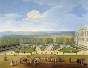 Promenade de Louis XIV en vue du Parterre du Nord dans les jardins de Versailles / Allegrain Etienne (1644-1736) Huile sur toile 1688 Photo (C) RMN-Grand Palais (Château de Versailles) / Gérard Blot