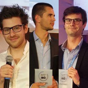 Mathieu Buonafine, Bertrand Cochard et Nicolas Urruty