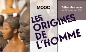 """L'affiche du MOOC """"Les origines de l'homme"""""""