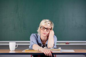 enseignant fatigué