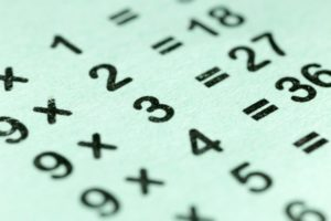 multiplication table as a background. macro © schankz