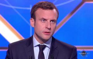 Emmanuel Macron sur le plateau de TF1 © @TF1LeJT