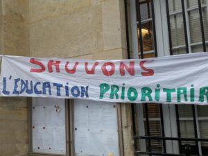 Les lycées ex-ZEP étaient en grève le 3 janvier, et manifesteront le 5 / photo de Touche pas à ma ZEP diffusée sur Twitter