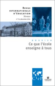 Le numéro 73 de la Revue internationale de d'éducation de Sèvres © CIEP