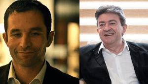 Benoit Hamon et Jean-Luc Mélenchon / Licence CC / Wikimedia
