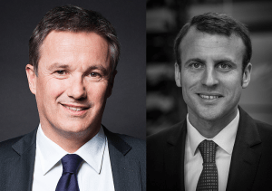 Emmanuel Macron et Nicolas Dupont-Aignan / Licence CC / Wikimedia