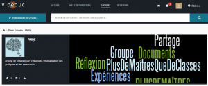 """""""Groupe de réflexion sur le PMQC / mutualisation des pratiques et des ressources"""" / Viaeduc / Capture"""