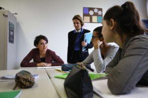 Najat Vallaud-Belkacem au collège Georges Rouault - © @najatvb