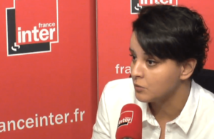 Najat Vallaud-Belkacem au micro de France Inter © @FranceInter