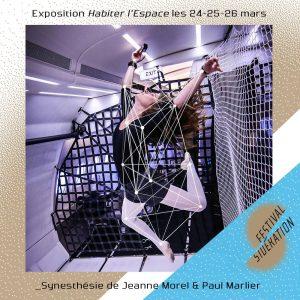 """""""Synesthésie"""", Jeanne Morel (danseuse) & Paul Marlier (designer), 2017 / Festival Sidération"""