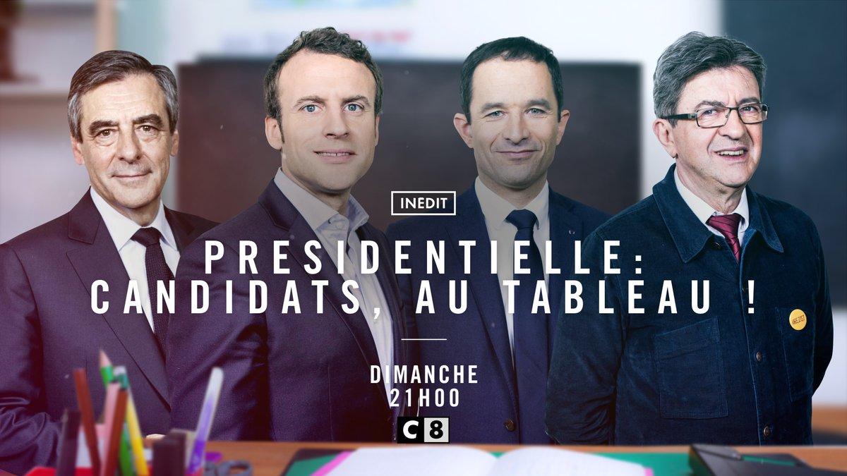 Fillon, Hamon, Macron et Mélenchon de retour à l'école