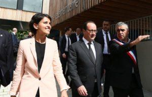 Najat Vallaud-Belkacem et François Hollande © Laurent BLEVENNEC-Mureaux
