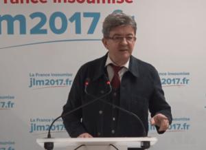 Jean-Luc Mélenchon en conférence de presse le 6 mars 2017 - © chaîne YouTube Jean-Luc Mélenchon