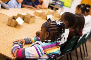 Séance de relaxation / sophrologie dans une école élémentaire de Los Angeles / Crédits : UCLA