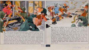 """""""La Bête est morte"""", d'Edmond-François Calvo (dessin), Victor Dancette et Jacques Zimmermann (scénaristes), Éditions Gallimard, novembre 1944, collection particulière. /©Mémorial de la Shoah."""