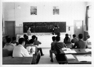 Collège du Plateau, Lavans les Saint Claude, 1958 / Photo Michel Le Berre