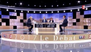 Débat de l'entre-deux-tours de l'élection présidentielle entre Emmanuel Macron et Marine Le Pen / TF1