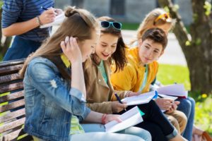 group of happy teenage students / Syda Productions / Shutterstock