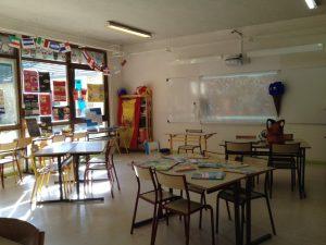 Salle de classe de Lucile en tant que stagiaire