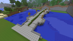 Minecraft pour enseigner les maths, en construisant un pont