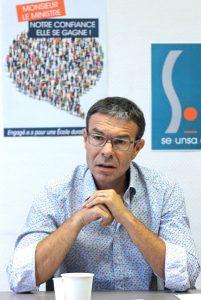 Stéphane Crochet, secrétaire général du SE Unsa.